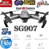 SG907 Drone GPS quadrirotor avec 4K HD double caméra grand Angle Anti-secousse WIFI FPV RC Drones pliables GPS professionnel suivez-moi