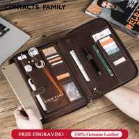 Rétro cuir étui pour ipad Pro 10.5 Air 3 11 2019 folio téléphone poche écouteur pochette porte-passeport fermeture à glissière de protection autour