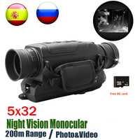 5X40 Vision nocturne numérique monoculaire infrarouge 940NM Vision nocturne portée de chasse avec 8G TF carte livraison gratuite