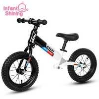 Infantile brillant enfants Balance voiture vélo Ride sur jouets Double roue voiture coulissante réglable pas de pédale 2-6 ans bébé