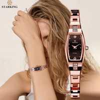 STARKING bijoux montre femme Quartz saphir cristal montre tungstène acier bracelet petit cadran dames horloge montre femme 2019