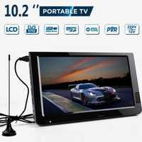 Extérieur 10.2 pouces 12V Portable numérique analogique télévision DVB-T/DVB-T2 TFT LED HD TV soutien TF carte USB Audio voiture télévision