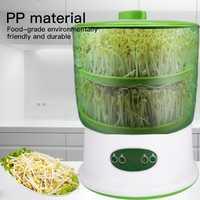 Máquina de brotes de soja inteligente para uso en el hogar, termostato de gran capacidad, máquina de brotes de soja verde, máquina automática para cultivar semillas