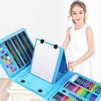 176 pièces peinture créative Graffiti peinture pinceau ensemble mode enfants divertissement quotidien jouet Art ensembles avec chevalet cadeau pour les enfants
