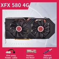 XFX RX 580 4GB 256bit GDDR5 tarjetas gráficas de escritorio Juegos de pc tarjeta de video no minera 580 4G usado