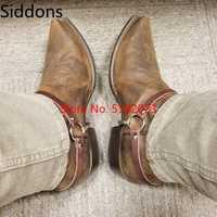 Hiver bottines hommes chaussures avec fourrure chaud Vintage classique mâle décontracté moto botte Zapatos De Hombre mode chaussures hommes D48