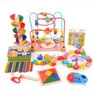 14 unid/set nuevo juguetes educativos de madera para bebés juguetes de Aprendizaje Temprano juguetes de juego para niños regalos educativos