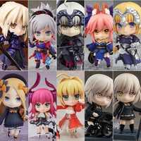 Figura Original de 10CM Fate series personajes femeninos Saber PVC ABS modelo de colección de juguetes con caja de juguetes genuinos