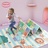 Miamumi tapis de jeu Portable pour bébé XPE mousse Double face tapis de jeu maison Puzzle couverture tapis pliant pour nourrissons tapis pour enfants