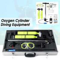 2 cylindre d'oxygène 9-en-1 équipement de plongée ensemble Air-réservoir plongée rechange respiration lunettes régulateur engrenages boîte souffle sous l'eau