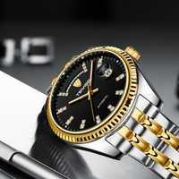 Reloj Mecánico TEVISE reloj automático para hombre reloj de lujo a prueba de agua Calendario de semana reloj mecánico de acero inoxidable reloj