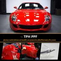 SUNICE 100% transparencia Auto-coche pintura protección película 3 capas PU película Anti-rayado coche Protector transparente pegatina 0,5*15 m 49.2ft