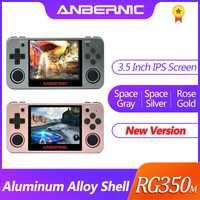 Nouveau jeu rétro ANBERNIC RG350 jeux vidéo mise à niveau console de jeu ps1 jeu 64bit opendingux 3.5 pouces 2500 + jeux RG350m enfant cadeau