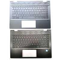 95% Original nuevo para HP PAVILION X360 14-CD 14T-CD 14M-CD TPN-W131 portátil cubierta superior con reposamanos nos teclado