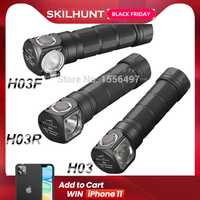 Skilhunt-bandeau Lampe Frontale, H03 H03R H03F, Lampe Frontale Cree, XML1200Lm, Lampe de poche, chasse, pêche, Camping