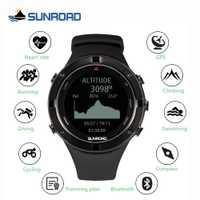 SUNROAD smart GPS fréquence cardiaque altimètre sports de plein air montre numérique pour les hommes en cours d'exécution marathon triathlon boussole montre de natation