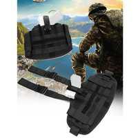 Bolsa Holsters Universal multifuncional de liberación rápida de la pierna de la cubierta de la correa de la pistola (táctica) bolsa para caza