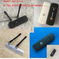 Nouveau déverrouillage d'origine HUAWEI E3372 E3372h-153 150Mbps 4G LTE USB Modem double Port d'antenne prend en charge toutes les bandes avec antenne crc9