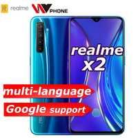 Realme X2 X 2 téléphone mobile Snapdragon 730G 64MP caméra 6.4 ''plein écran NFC OPPO téléphone portable VOOC 30W chargeur rapide