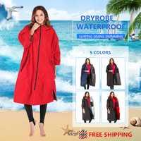 2020 à la mode imperméable à capuche poncho combinaison humide séchage robes avec microfibre terry toweling doublure