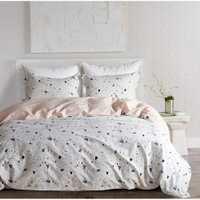 Yimeis juego de cama de algodón cómoda ropa de cama sábanas modernas y fundas de almohada BE47109