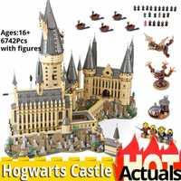 6742 pièces HarryINGLYS magique château école Compatible avec Legoinglys 71043 maison blocs de construction briques noël jouets potage