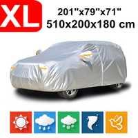 510x200x180 universel SUV 190T imperméable bâches de voiture poussière pluie neige Protection UV pour Toyota Land Cruiser Tour Ford Explorer