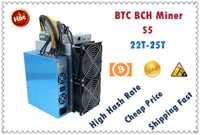 BTC BCH Mineur S5 22-23T Avec ALIMENTATION Économique Que Antminer S9 S9j S9k S15 S17 T9 + T17 S17 + WhatsMiner M3X M21S M20S L'EBIT
