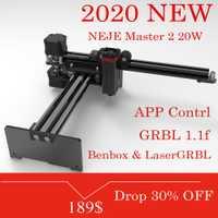 NEJE Master 2 20W grabador y cortador láser de escritorio-máquina de grabado y corte láser-impresora láser-enrutador láser CNC