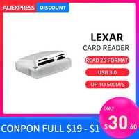 Lexar 25 en 1 Multi lector de tarjetas inteligentes USB 3,0 de alta velocidad hasta 500 M/S tarjeta tf compacta sd lector de tarjetas cf para cámara portátil