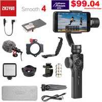 Zhiyun Suave 4 3-eje de Smartphone del cardán estabilizador para iPhone XS XR 8X8 8 7P 7 6S Samsung S9 S8 S7 y cámara de acción