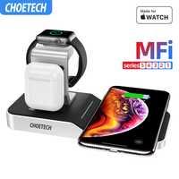 CHOETECH MFi support de charge sans fil pour Apple Watch Charger 5/4/3/2/1 série originale support de chargeur sans fil magnétique chargeur rapide