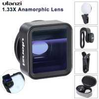 Ulanzi universel 1.33X anamorphique lentille de téléphone pour iPhone Xs Max X Huawei P20 Pro Mate Film de tournage Film faisant lentille de téléphone avec