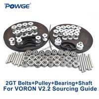 POWGE VORON V2.2 ensemble de pièces de mouvement GT2 LL-2GT RF courroie de distribution ouverte 2GT 16T 20T poulie 110/188 boucle arbre portant 625 F695 2RS