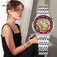 STARKING montre mécanique femmes de luxe en acier inoxydable creux squelette automatique dames montre chinois Hodinky Damske 5ATM AL0185