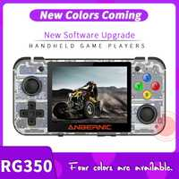 ANBERNIC nouveau jeu rétro RG350 jeu vidéo console de jeu portable MINI 64 bits 3.5 pouces IPS écran 16G joueur de jeu RG 350 PS1 RG350M