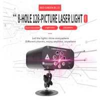 YSH Disco lumière Laser DJ fête lumières 128 modèles projecteur pour DJ scène décoration rvb coloré effet d'éclairage pour mariage