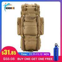 Chaude 70L grande capacité sac de sport en plein air militaire tactique sac à dos randonnée Camping imperméable à l'eau résistant à l'usure en Nylon sac à dos