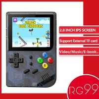 ANBERNIC RG99 jeu rétro 99 jeux vidéo lecteur de jeu portable intégré 169 jeux classiques pour enfant lecteur nostalgique comme RG300