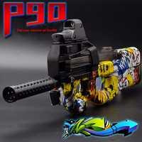 Électrique P90 jouet pistolet Graffiti eau douce Gel balle pistolet jouet pistolet en plein air CS assaut bataille Sniper jouet arme petit-fils neveu cadeaux