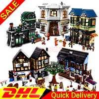 LP 16011 manoir médiéval château + LP 16012 l'allée de Diagon modèle blocs de construction pour enfants jambes jouets Clone 10193 10217