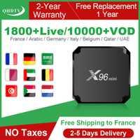 X96 Mini IPTV Francia caja Android 7,1 IPTV código QHDTV caja Quad Core X96 mini 1 año IPTV Bélgica Francia árabe Países Bajos IP TV