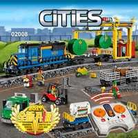 Ciudad motorizada de Control remoto tren de carga Hobby 02008 modelo bloque de construcción niño ladrillo lepinblocks de potencia Compatible con legotely