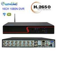 Grabadora de vídeo DVR de 16 canales con función wifi Panel rojo para cámara CVBS AHD cámara IP analógica Onvif 1080P vigilancia por vídeo