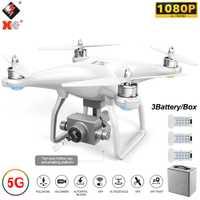 WLtoys XK X1 Pro RC Quadcopter con cámara de 1080P GPS FPV RC Drone 5G Wifi FPV 2-Eje motor sin escobillas auto-estabilizador Gimbal Dron Juguetes