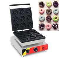 Máquina de rosquillas de acero inoxidable, equipo de refrigerio comercial con Círculo de trigo dulce NP-100 Donut recubierto antiadherente, 110v/220v