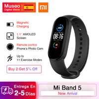 Xiaomi Mi bande 5 Bracelet intelligent AMOLED écran Miband 5 Smartband Fitness Traker Bluetooth Sport étanche bande intelligente