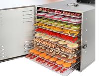 Secador profesional de 10 capas de frutas de acero inoxidable para alimentos, frutas, verduras, carne para mascotas, secador de aire, deshidratador eléctrico