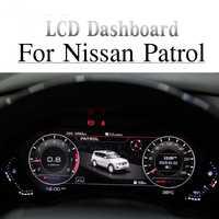 Tableau de bord de voiture Android   Écran d'affichage d'instruments, écran pour Nissan patrouille Y62, lecteur multimédia, panneau numérique