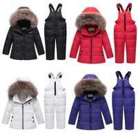 2019 nouveau enfants doudoune bébé vêtements d'hiver enfants doudoune ensemble bébé garçons et fille vêtements d'hiver salopette infantile manteau